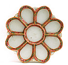 Early 20C Chinese Famille Rose Medallion Oyster Plate