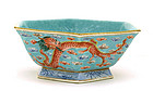 Chinese Famille Rose Dragon Bowl Mk