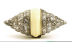 Chinese Tibetan Silver Seashell Box