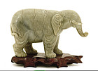 Old Chinese Jade Nephrite Carving Large Elephant