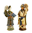 Chinese Mud Man Mudman Couple Figure Figurine