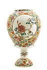 Chinese Famille Rose Mille Fleur Lamp Peony Lotus