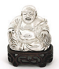 Early 20C Chinese Silver Happy Buddha Mk