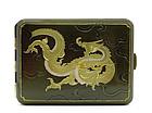 Japanese Mixed Metal Silver Dragon Cigarette Case Sg