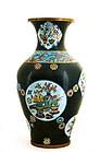 Early 20C Large Chinese Gilt Cloisonne Vase