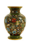 Old Japanese Goldstone Cloisonne Vase