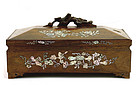 Early 20C Chinese Rose Wood MOP Mother Pearl Inlay Box