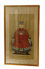 Chinese Silk Watercolor Painting Manchu Lady