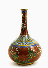 Chinese Gilt Cloisonne Vase Flowers Sg Lao Tian Lee