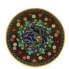 6 Japanese Goldstone Cloisonne Phoenix Bird Plate