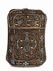 Early 20C Old Chinese Filigree Silver Enamel Box