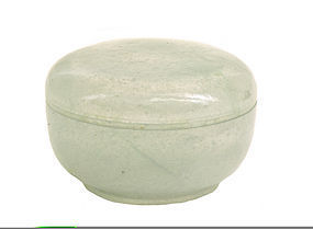 Early 20C Chinese Icy Jadeite Carved Cover Box