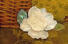 Meiji Japanese Makie Lacquer Shibayama Pearl Plaque