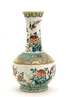Early 20C Chinese Famille Rose Porcelain Vase Bird
