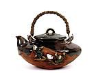 Old Japanese Sumida Gawa Teapot Figurine Ryosai