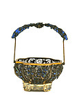 Early 20C Chinese Silver Enamel Basket
