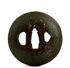 19C Japanese Bronze Sword Tsuba