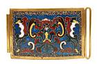 19th Century Chinese Gilt Cloisonne Enamel Belt Buckle