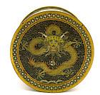 Early 20C Chinese Gilt Cloisonne Dragon Box Tea Caddy