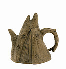 Old Chinese Yixing Tree Stump Shape Teapot Sg