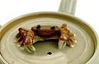 Old Japanese Banko Teapot Crab Mk