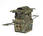 Early 20C Chinese Silver Filigree Enamel Palanquin