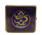 Early 20C Chinese Cloisonne Dragon Cigarette Case Box