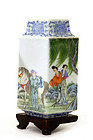 Chinese Enamel Famille Rose Porcelain Vase Figure