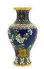 Chinese Gilt Cloisonne Vase Flowers Sg Lao Tian Li