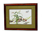 Chinese Famille Rose Plaque Chicken Group Sg