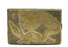 Chinese Silver Gold Wash Dragon Cigarette Case Mk