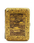 Japanese Komai Style Mixed Metal Cigarette Case