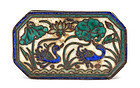 Early 20C Chinese Silver Enamel Box Duck Bird Mk