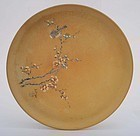 Chinese Yixing Tea Tray Plate with Bird Signed