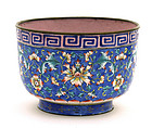 Chinese  Enamel Cloisonne Cup Flower