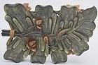 Chinese Fujian Fuzhou Lacquer Lotus Leaf Shape Tray