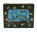 Japanese Cloisonne Enamel Box Flower & Bird