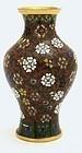 Chinese Cloisonne Vase Flowers Mk Lao Tian Li
