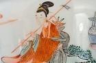17C Chinese Wucai Porcelain Tea Bowl Mk Kangxi