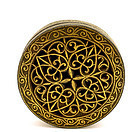 19C Persian Islamic Iran Gilt Iron Box