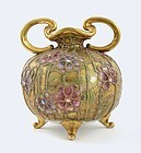 Japanese Nippon Moriage Jewel Vase Mk