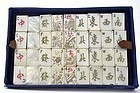 Chinese Export Mother of Pearl Mahjong Mah-Jong Game