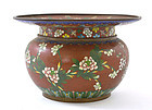 Chinese Cloisonne Pot Vase Flowers Mk Lao Tian Li