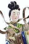 Early 20C Chinese Silver Enamel Lady Basket Figure Mk