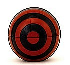 Japanese Red & Black Lacquer Ball Box Signed