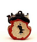 Old Japanese Sumida Gawa Teapot Shoulo Dragon