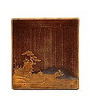 19C Japanese Makie Lacquer Writing Box