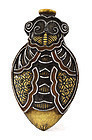 Early 20C Chinese Famille Rose Cicada Snuff Bottle