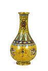 Early 20C Chinese Cloisonne Dragon Vase Lao Tian Li Mk