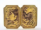 Old Japanese Komai Mixed Metal Iron Belt Buckle